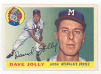1955 Topps Baseball 35 Dave Jolly Milwaukee Braves Excellent to Mint