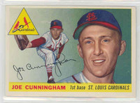 1955 Topps Baseball 37 Joe Cunningham St. Louis Cardinals Excellent to Excellent Plus