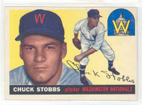 1955 Topps Baseball 41 Chuck Stobbs Washington Senators Excellent to Excellent Plus
