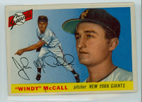 1955 Topps Baseball 42 Windy McCall New York Giants Very Good to Excellent