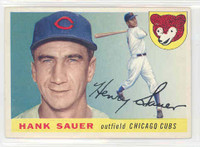 1955 Topps Baseball 45 Hank Sauer Chicago Cubs Excellent to Mint