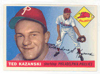 1955 Topps Baseball 46 Ted Kazanski Philadelphia Phillies Excellent to Mint