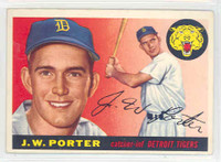 1955 Topps Baseball 49 JW Porter Detroit Tigers Excellent to Excellent Plus