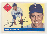 1955 Topps Baseball 51 Jim Hughes Brooklyn Dodgers Excellent to Excellent Plus