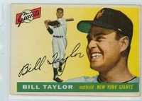 1955 Topps Baseball 53 Bill Taylor New York Giants Good to Very Good