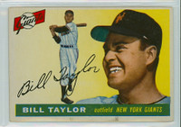 1955 Topps Baseball 53 Bill Taylor New York Giants Very Good to Excellent