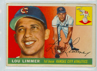 1955 Topps Baseball 54 Lou Limmer Kansas City Athletics Good to Very Good