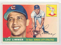 1955 Topps Baseball 54 Lou Limmer Kansas City Athletics Excellent to Mint