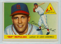 1955 Topps Baseball 55 Rip Repulski St. Louis Cardinals Very Good to Excellent