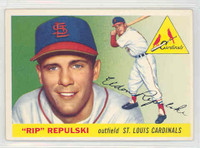 1955 Topps Baseball 55 Rip Repulski St. Louis Cardinals Excellent to Mint