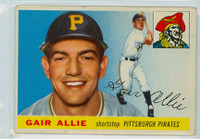 1955 Topps Baseball 59 Gair Allie Pittsburgh Pirates Good to Very Good