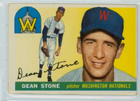1955 Topps Baseball 60 Dean Stone Washington Senators Good to Very Good