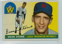 1955 Topps Baseball 60 Dean Stone Washington Senators Very Good to Excellent