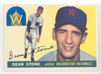 1955 Topps Baseball 60 Dean Stone Washington Senators Excellent to Excellent Plus