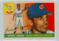 1955 Topps Baseball 61 Spook Jacobs Kansas City Athletics Fair to Good