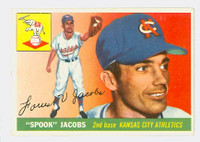 1955 Topps Baseball 61 Spook Jacobs Kansas City Athletics Very Good to Excellent