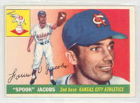 1955 Topps Baseball 61 Spook Jacobs Kansas City Athletics Excellent