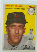 1954 Topps Baseball 8 Bobby Young Baltimore Orioles Good to Very Good
