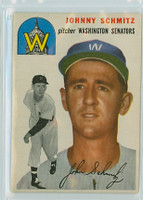 1954 Topps Baseball 33 Johnny Schmitz Washington Senators Very Good