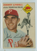 1954 Topps Baseball 51 Johnny Lindell Tough Series Philadelphia Phillies Very Good