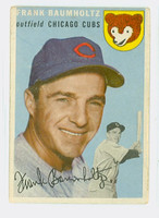 1954 Topps Baseball 60 Frank Baumholtz Tough Series Chicago Cubs Good to Very Good