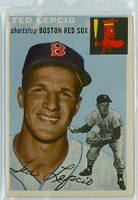 1954 Topps Baseball 66 Ted Lepcio Tough Series Boston Red Sox Excellent