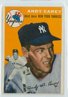 1954 Topps Baseball 105 Andy Carey New York Yankees Near-Mint