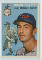 1954 Topps Baseball 107 Duane Pillette Baltimore Orioles Excellent to Mint
