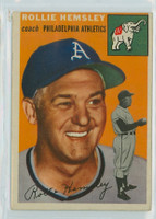 1954 Topps Baseball 143 Rollie Hemsley Oakland Athletics Very Good to Excellent