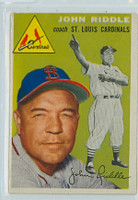 1954 Topps Baseball 147 John Riddle St. Louis Cardinals Very Good to Excellent