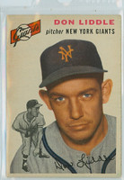 1954 Topps Baseball 225 Don Liddle New York Giants Very Good