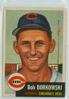 1953 Topps Baseball 7 Bob Borkowski Cincinnati Reds Very Good to Excellent