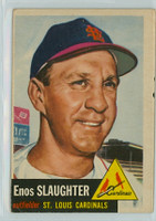 1953 Topps Baseball 41 Enos Slaughter Single Print St. Louis Cardinals Very Good