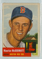 1953 Topps Baseball 55 Maurice McDermott Boston Red Sox Good to Very Good