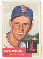1953 Topps Baseball 55 Maurice McDermott Boston Red Sox Very Good to Excellent