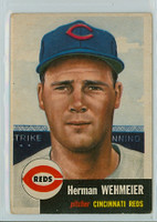 1953 Topps Baseball 110 Herman Wehmeier Cincinnati Reds Very Good