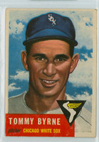 1953 Topps Baseball 123 Tommy Byrne Chicago White Sox Very Good to Excellent