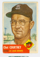 1953 Topps Baseball 127 Clint Courtney St. Louis Browns Good to Very Good