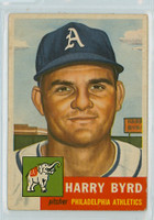 1953 Topps Baseball 131 Harry Byrd Philadelphia Athletics Very Good to Excellent