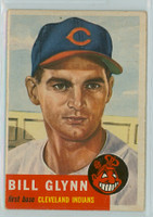 1953 Topps Baseball 171 Bill Glynn Cleveland Indians Very Good