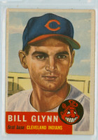1953 Topps Baseball 171 Bill Glynn Cleveland Indians Very Good to Excellent