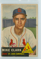 1953 Topps Baseball 193 Mike Clark St. Louis Cardinals Good to Very Good