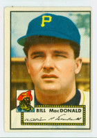 1952 Topps Baseball 138 Bill MacDonald Pittsburgh Pirates Very Good