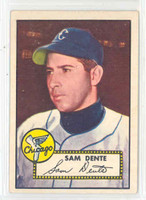 1952 Topps Baseball 304 Sam Dente Chicago White Sox Excellent to Excellent Plus