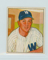 1950 Bowman Baseball 52 Sam Mele Washington Senators Very Good to Excellent