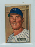 1951 Bowman Baseball 25 Vic Raschi New York Yankees Good to Very Good