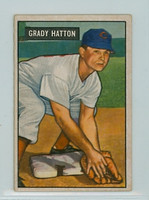 1951 Bowman Baseball 47 Grady Hatton Cincinnati Reds Very Good to Excellent