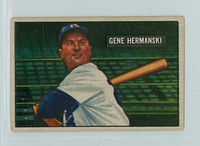 1951 Bowman Baseball 55 Gene Hermanski Brooklyn Dodgers Very Good