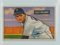 1951 Bowman Baseball 57 Alex Kellner Philadelphia Athletics Good to Very Good