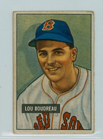1951 Bowman Baseball 62 Lou Boudreau Boston Red Sox Good to Very Good